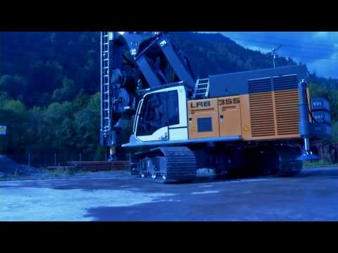 Liebherr - Piling and drilling rig LRB 355 with a wide range of applications