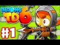 Bloons TD 6 - Gameplay Walkthrough Part 1 - Quincy The Archer In Monkey Meadow!