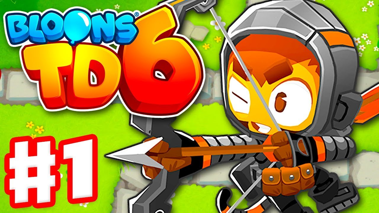 Bloons TD 6 - Gameplay Walkthrough Part 1 - Quincy the Archer in Monkey Meadow! image