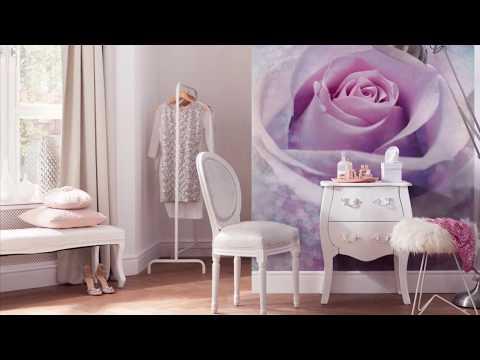 Фотообои с изображением розы в интерьере ❤️ Shop-oboi.com.ua