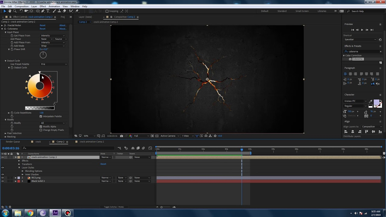 Easy 5-minute Crack-surface Animation Tutorial Adobe After Effects