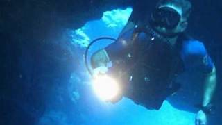 Rational Man dives the shark cave with a LAR V rebreather