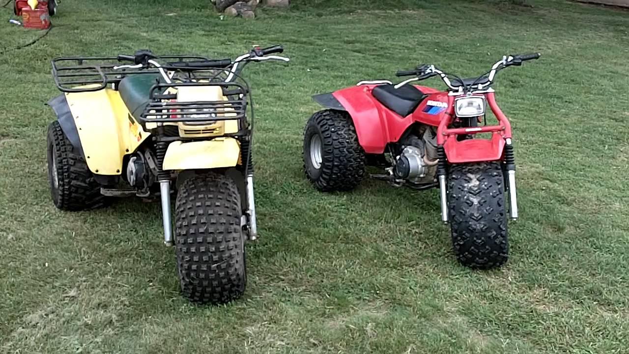 My 1985 honda atc200s and 1983 yamaha yamahauler ytm200e for Yamaha 200e 3 wheeler
