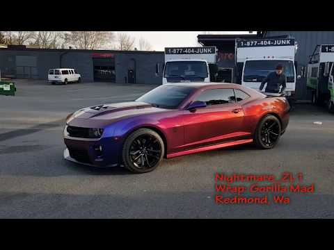 Nightmare ZL1 Camaro Flip Flop Wrap! Check out that color change