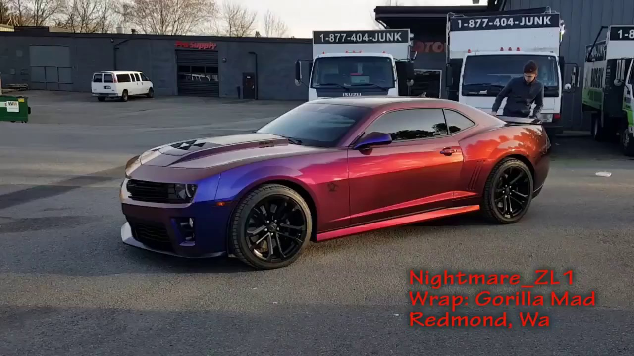 Nightmare Zl1 Camaro Flip Flop Wrap Check Out That Color