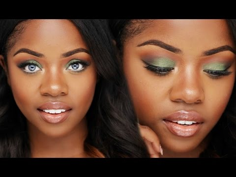 Makeup Tutorial: Olive Green Eyes | Cydnee Black