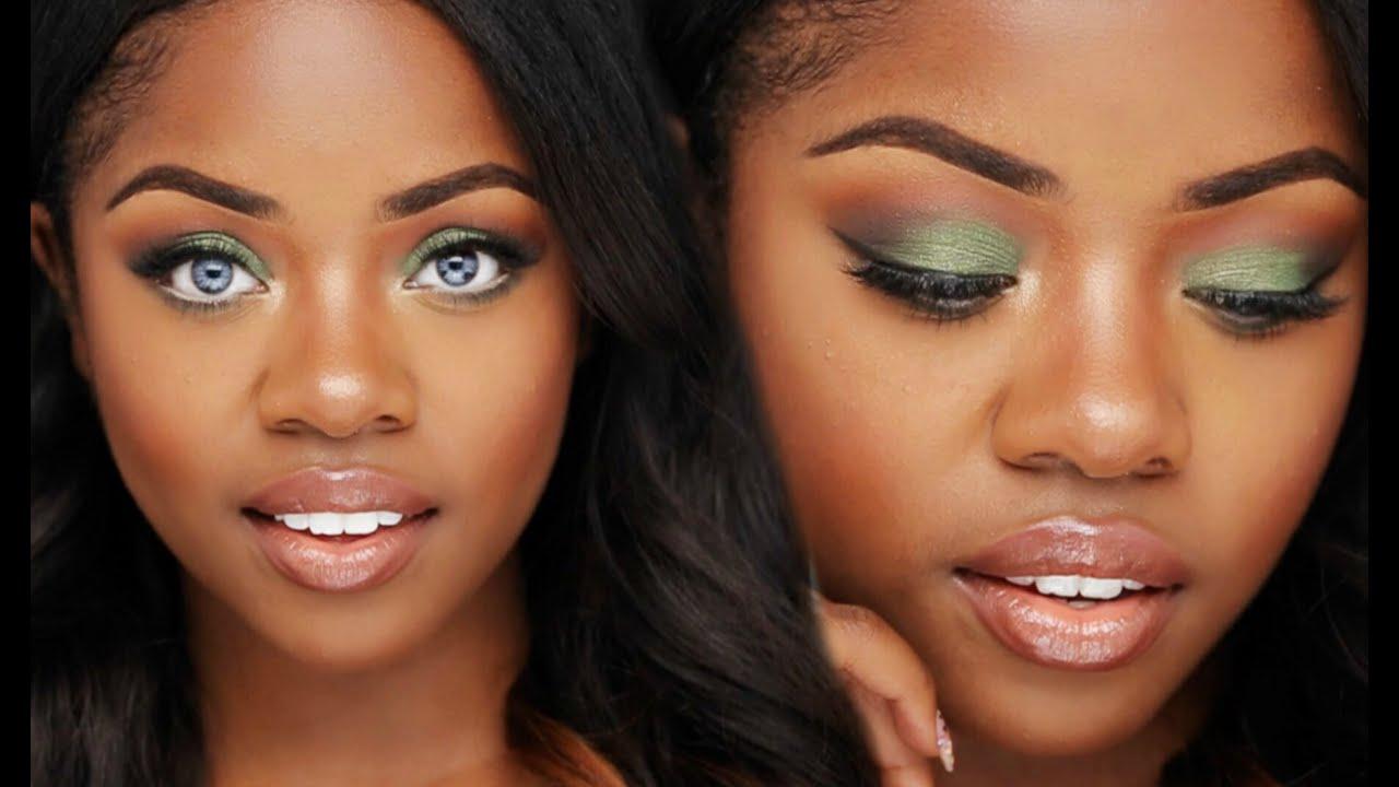 Makeup Tutorial Olive Green Eyes Cydnee Black Youtube