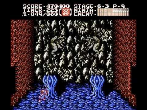 Ninja Gaiden II [NES] One Life Clear + Cinemas