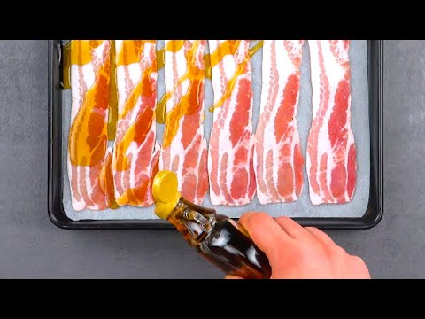 Видео: Сладкий сироп с соленым беконом - очень вкусное сочетание