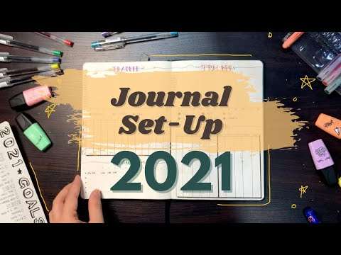 MY 2021 BULLET JOURNAL SET-UP | 2021 Finance & Lifestyle Trackers | Plan with me