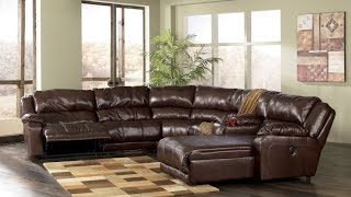Reclining Leather Sectional With Chaise