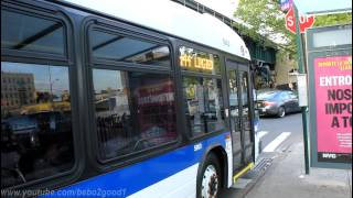 NYCTA Special: Two NovaBus LFSA (#5903/5909) on the Q44 at Westchester Ave / Grant Circle