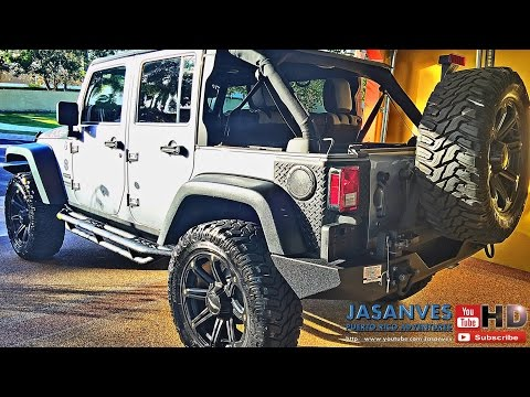 DIY Jeep JK How To Install Rear Corner Guards, Mopar Fuel Filler Cover and Cowl Body Armor