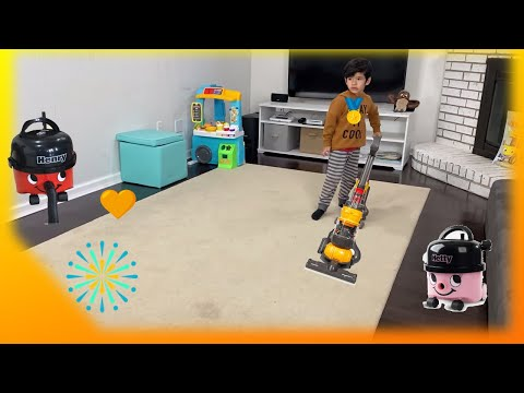 Casdon Dyson Ball Toy Vacuum Cleaners For Toddlers| Help Dad Clean Up! from YouTube · Duration:  18 minutes 24 seconds