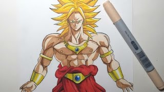 Speed Drawing Broly SSj (HD) ブロリー SSj