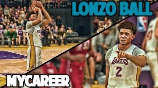 GREATEST PERFORMANCE IN NBA HISTORY - NBA 2K17 LONZO BALL MyCareer
