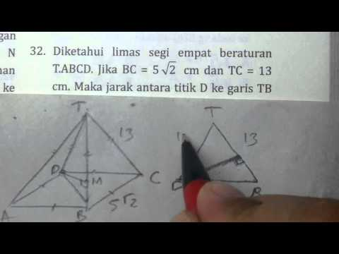 Jarak D ke TB Limas Dimensi 3- Bank Soal Matematika SMA
