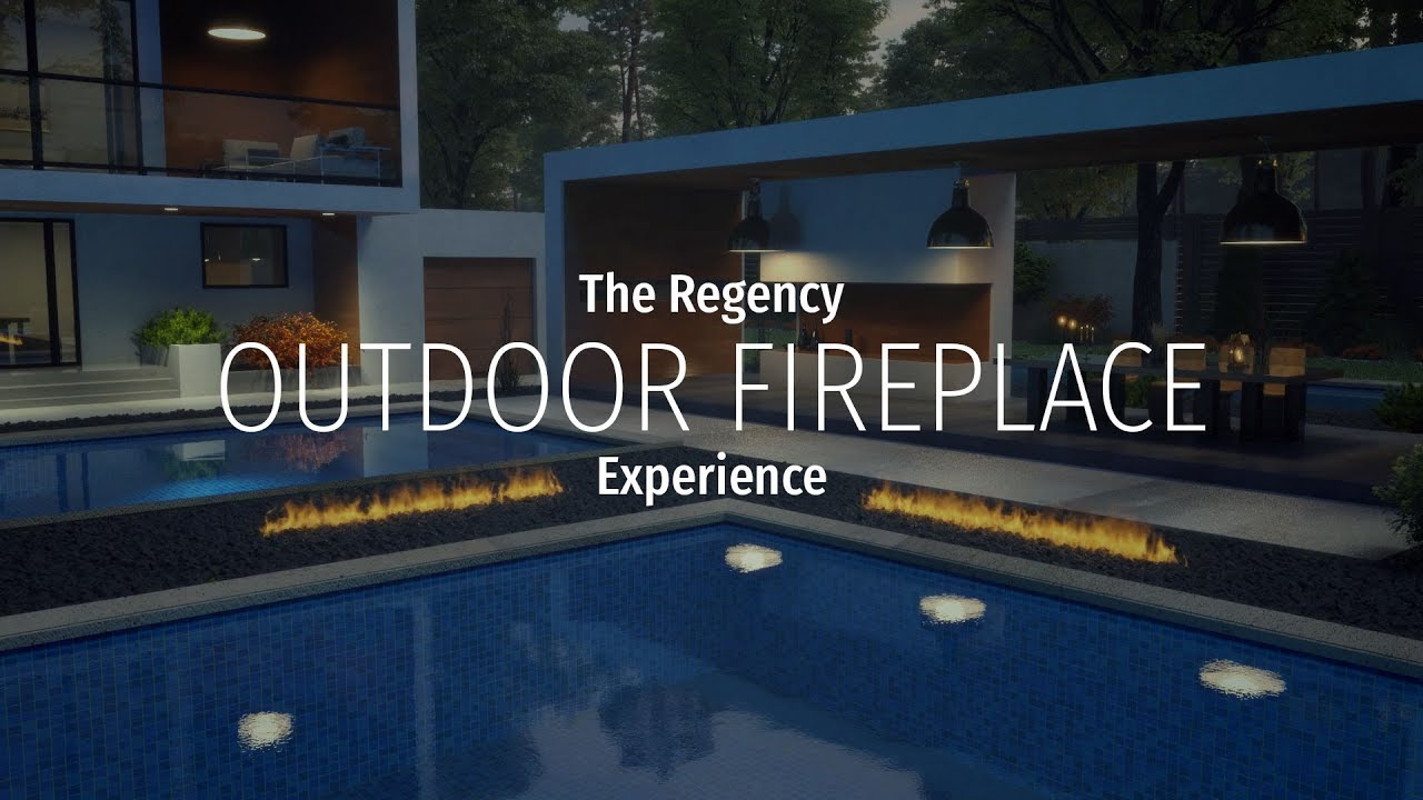 regency outdoor gas fireplaces refine your outdoor living youtube