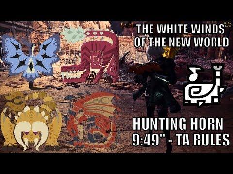 "Monster Hunter World - The White Winds of the New World - Hunting Horn - TA Rules - 9:49"" thumbnail"