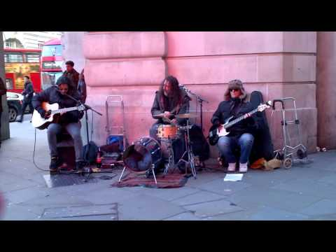 London street band Funfiction play Kingston Town (UB40)