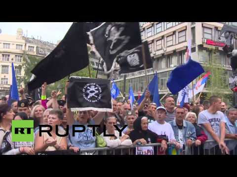 Serbia: Thousands of Radical Party supporters rally against govt. in Belgrade