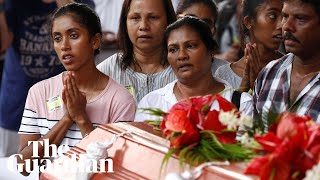Moment of silence and memorial services held for Sri Lanka church blast victims