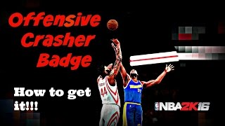 NBA 2K16 Offensive Crasher Badge - How to get offensive rebounds