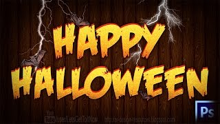 Halloween Text Effect + PSD — Photoshop Tutorial