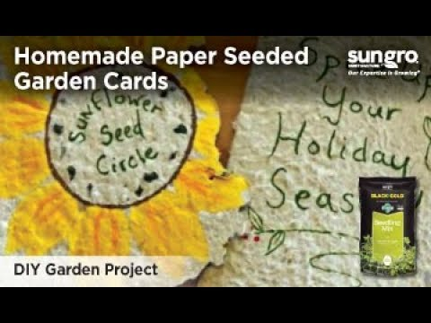 DIY Homemade Paper Seeded Garden Cards