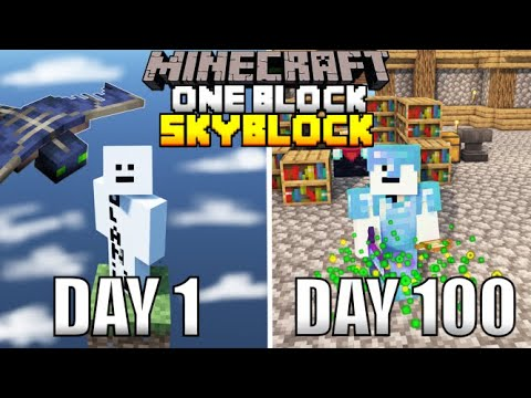 I Spent 100 Days In One Block Minecraft And Here's What Happened... - Kolanii