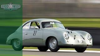 Chris Harris races Porsche 356 at Goodwood Revival