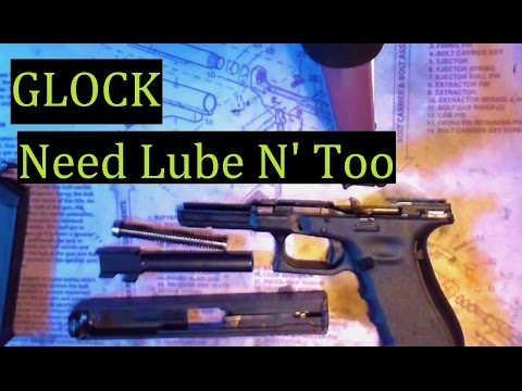 Glock 17 9mm Lubrcating, and Cleaning