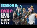 Fortnite SEASON 5 ALL Outfits Dances Gliders Toys Contrails More mp3