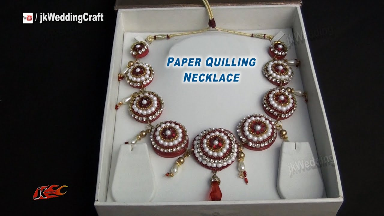 Diy Paper Quilling Bridal Necklace How To Make Jk Wedding Craft 050 You