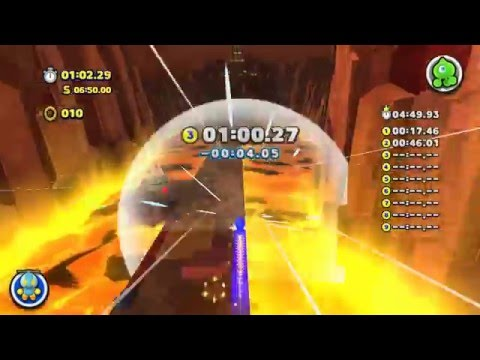Sonic Lost World - Lava Mountain Zone 3 (Time Attack S Rank)