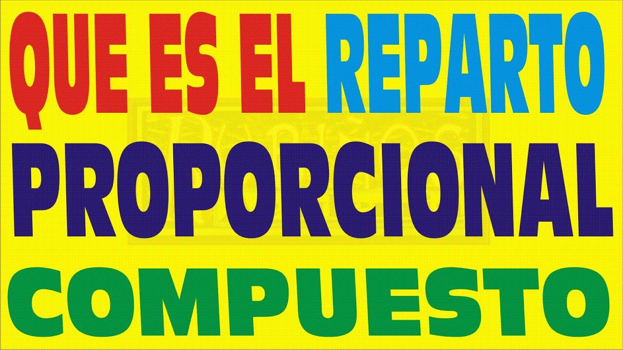 REPARTO PROPORCIONAL COMPUESTO PDF