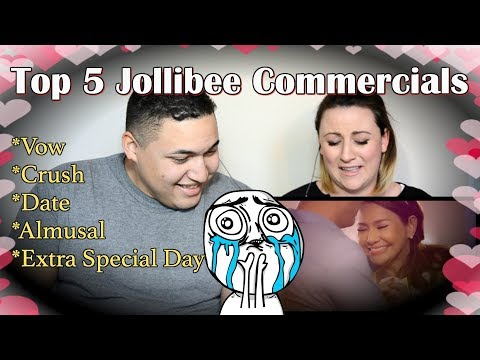 Top 5 Jollibee Commercial (Vow, Crush, Date, Almusal, Extra Special Day)|COUPLES REACTION