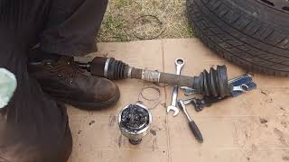 HOW TO CHANGE PEUGEOT 307  CV JOINT