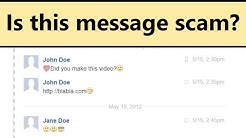 """""""Did you make this video?"""" on Facebook - is it scam message?"""