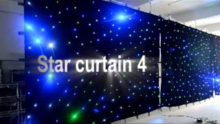 3x4m star cloth RGBW brightness wedding mandap