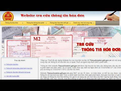 Hướng dẫn tra cứu hóa đơn- tracuuhoadon.gdt.gov.vn