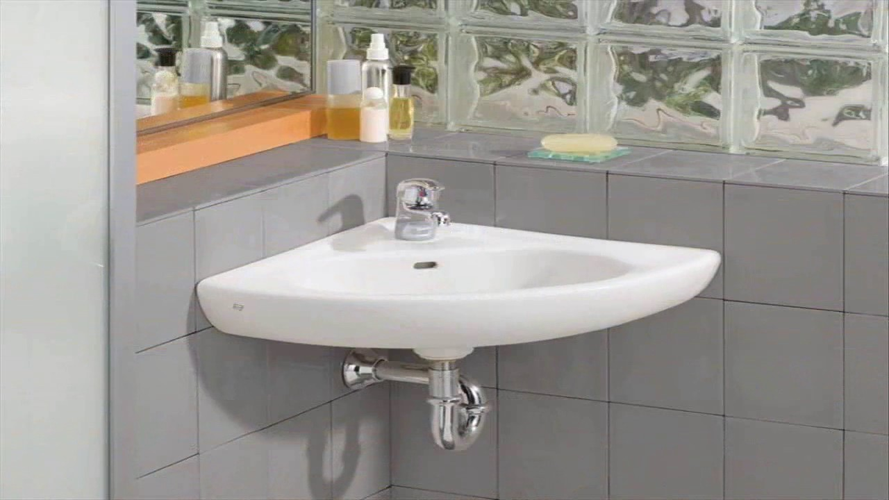 Small Corner Bathroom Sink With Pedestal Youtube