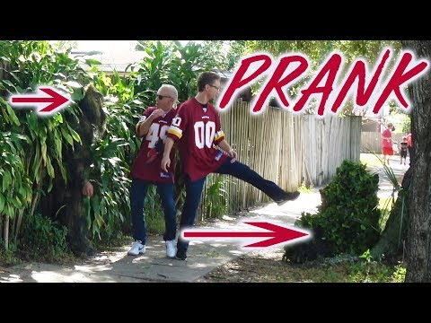 EPIC BUSHMAN SCARE PRANK WITH 3 BUSHMAN - Tampa Bay Buccaneers Football game @fredspecialtelevision