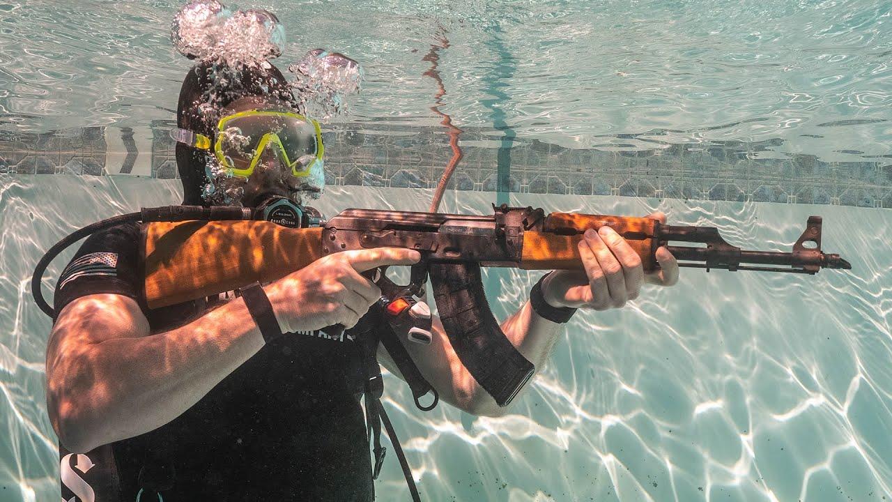 Download Firing an AK47 Underwater