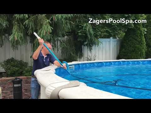 How to Vacuum a Sharkline Above Ground Pool