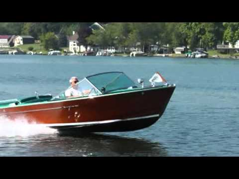 1967 wooden Century Arabian boat - YouTube
