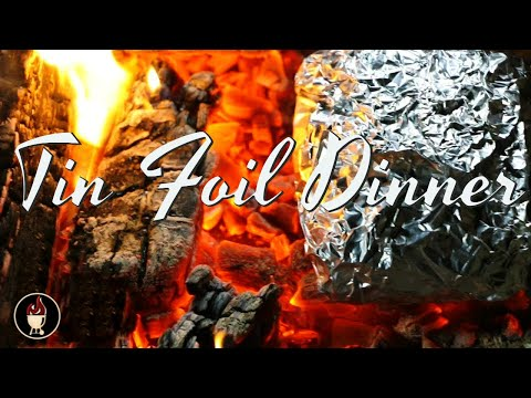 Tin Foil Steak Packet On Campfire | Campfire Dinner