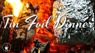 Tin Foil Steak Packet On Campfire | Campfire Dinner