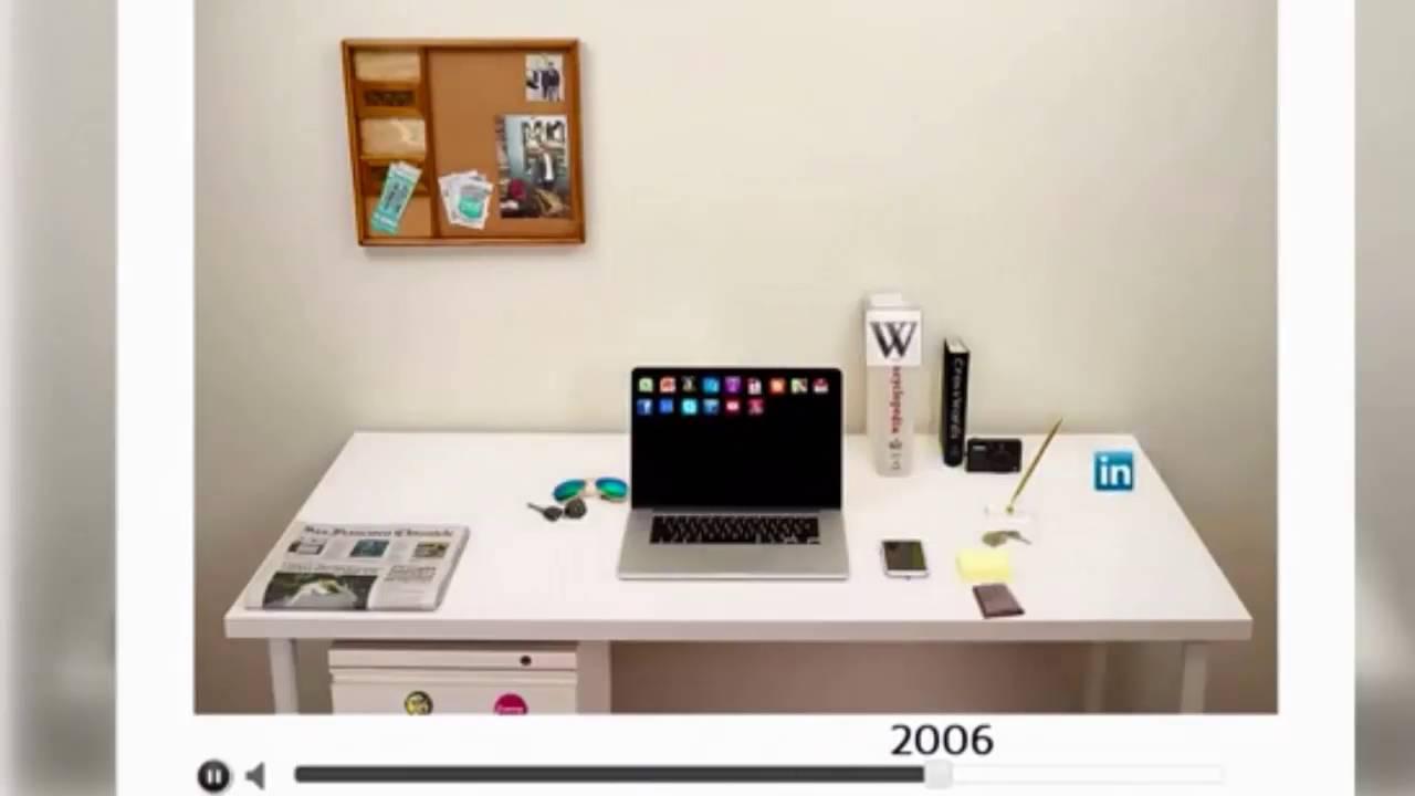 Evoluci n de la mesa de trabajo en la oficina 1980 2014 for Oficina de empleo arguelles