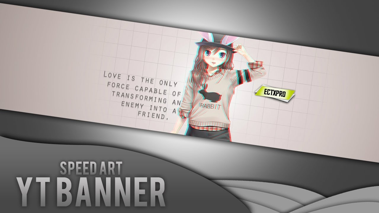 Personal Banner Anime Speed Art 24 Youtube